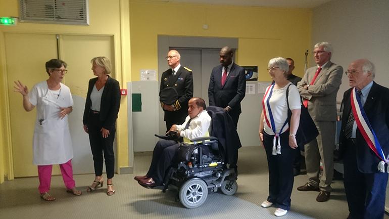 Visite de la secrétaire d'état - Fondation Poidatz